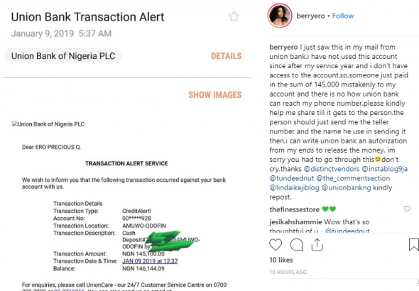 U.S-based Nigerian lady searches for person who mistakenly paid into her bank account lailasnews 1