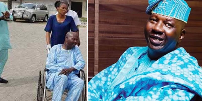 Image result for images of Baba Suwe Arrives Nigeria From US Medical Trip