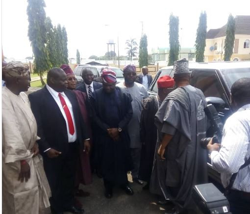Governor?Ambode arrives Lagos Assembly to present 2019 budget (Photo)