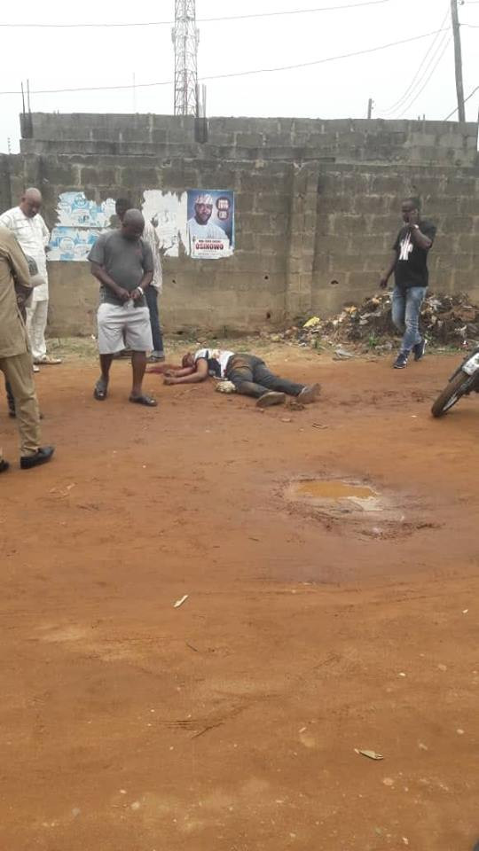 Photo: Unknown gunmen kill man in Ikorodu