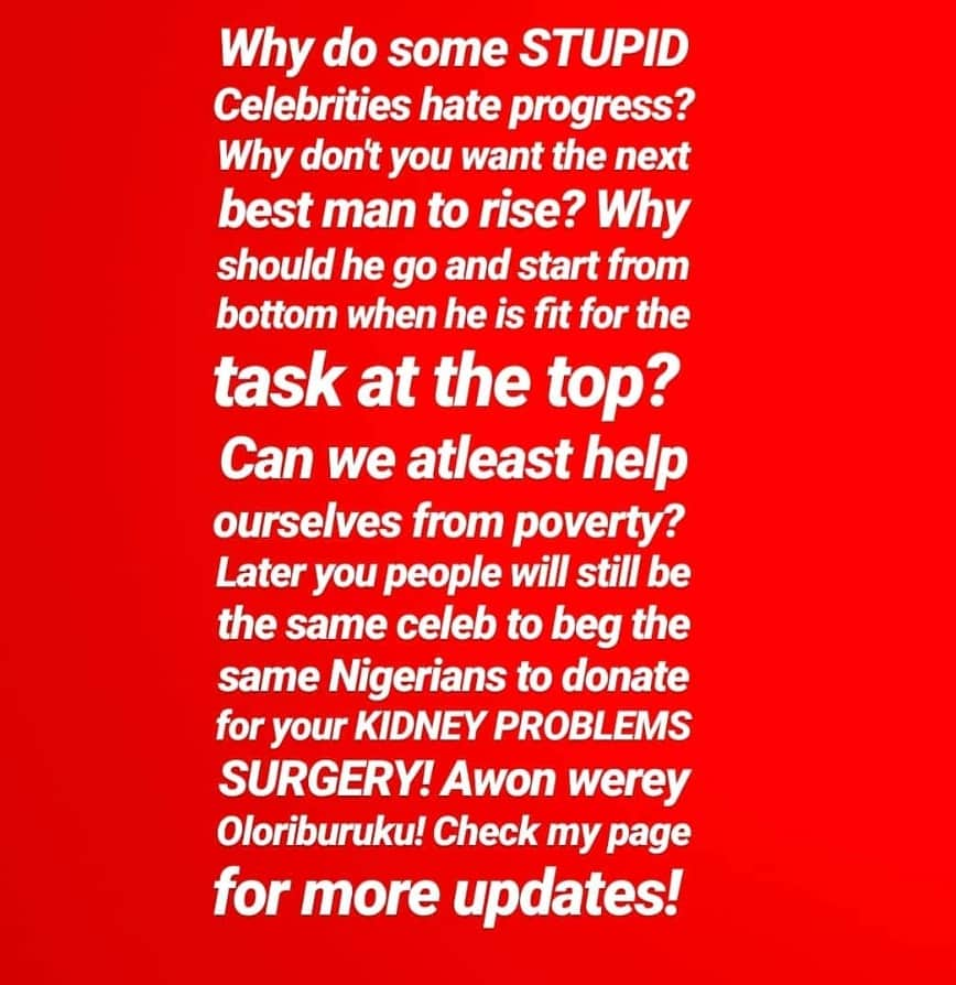 Sheyman rant on celebrities