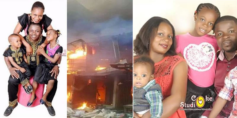 """Image result for Nigerian man, his wife and 3 children burnt to death hours after posting on Facebook """"I stay winning in this month of March""""Nigerian man, his wife and 3 children burnt to death in house fire"""