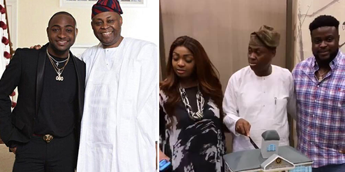 Image result for Photos from Davido's father birthday celebration