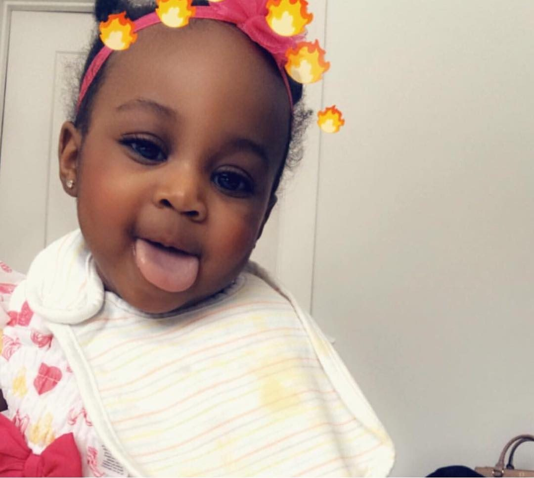 Adorable Moment Davido Babysits 2nd Daughter, Hailey In Baby Mama's Absence