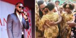 Singer Flavour celebrates Semah, the blind boy he adopted on his birthday (photo)