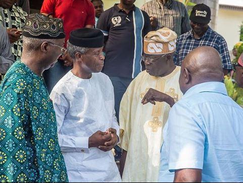 Photos:?VP Osinbajo holds consultations with Governor Akinwumi Ambode, Fashola, Sanwo-olu at Bola Tinubu