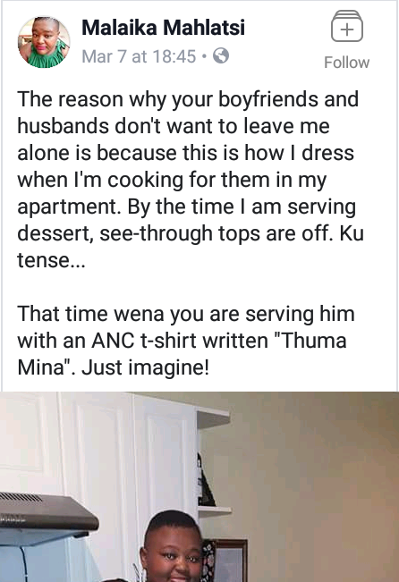 South African woman states why