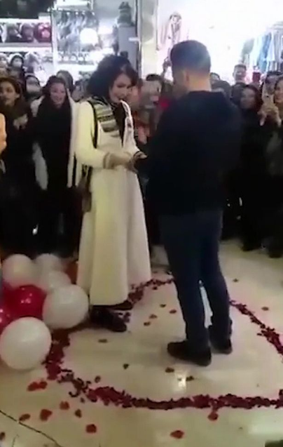"""Couple arrested in Iran over romantic shopping mall proposal because it """"offended Islam"""" (video)"""
