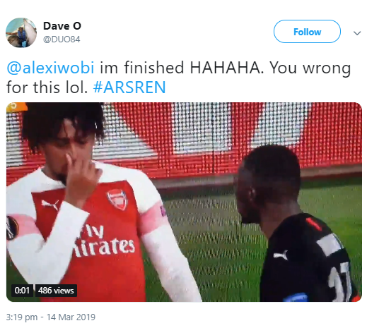 Alex Iwobi is called out for mocking a fellow black man during a match (video)