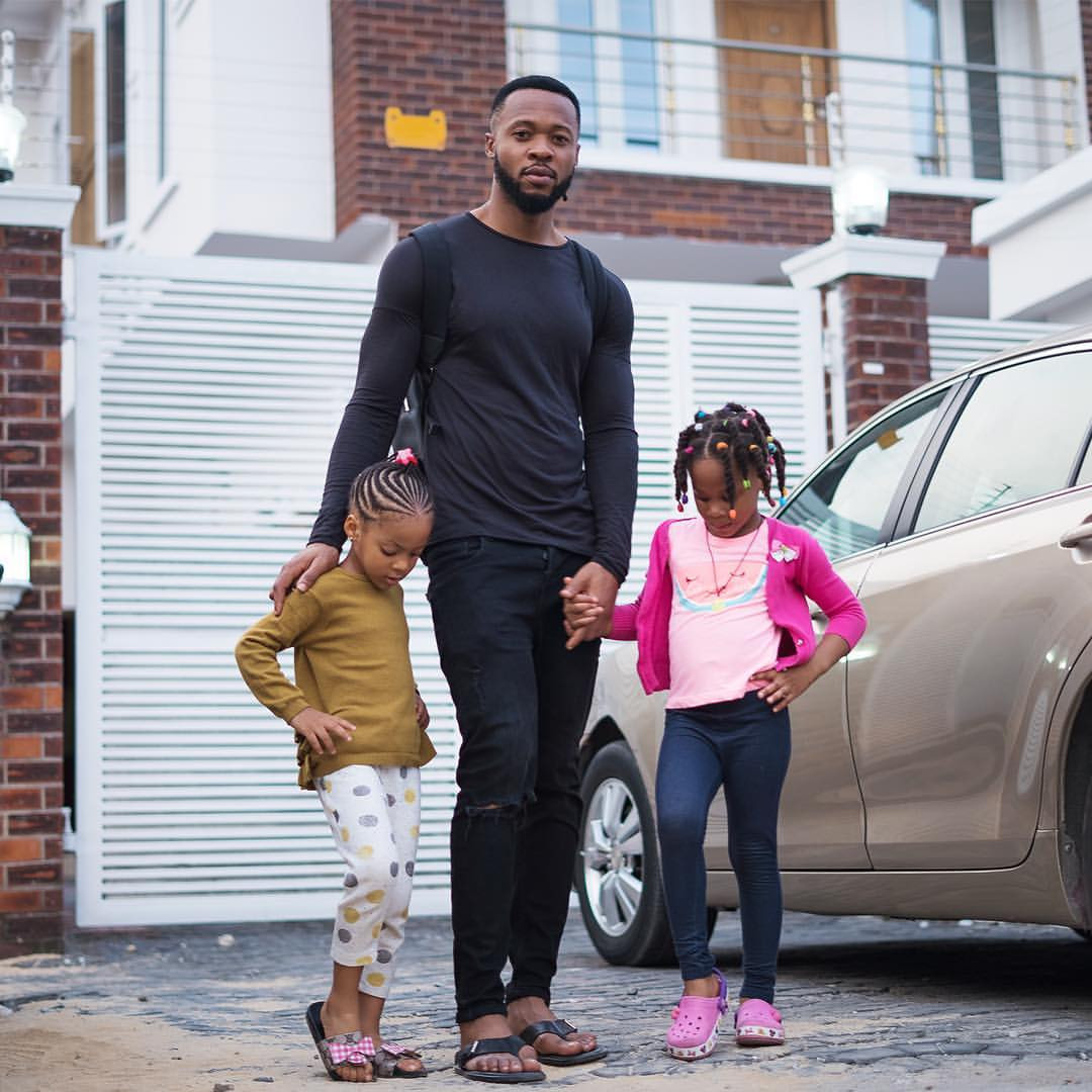 Lovely new photos of Flavour and his daughters