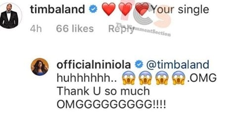 Niniola, Timbaland