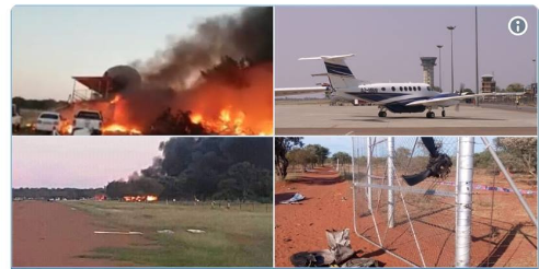 Pilot dies in horrific fireball after crashing 'stolen' plane in Botswana