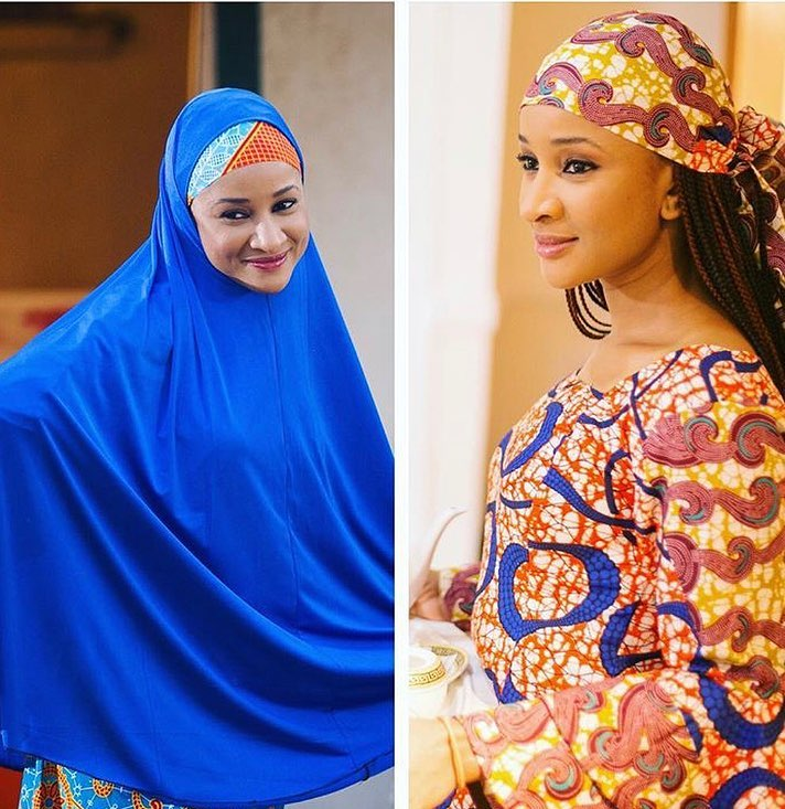 Image result for Stunning photos of Omotola, Lizzy Anjorin, Dayo Amusa, Adesua and 2 other female celebrities rocking hijab (PICS)