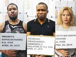 2 Nigerians in Philippines arrested with N125million worth of drugs