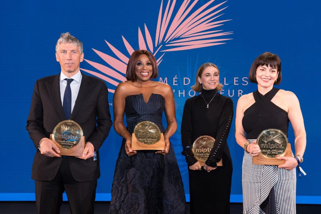 Nigerian media mogul Mo Abudu receives 2019 M?dailles d?Honneur at MIPtv in Cannes