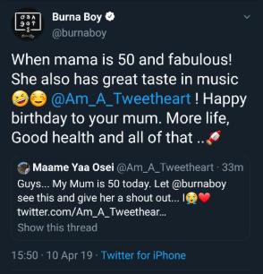 Woman, 50, who danced to Burna Boy