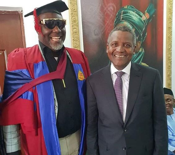 Photos: Aliko Dangote attends Senator Dino Melaye