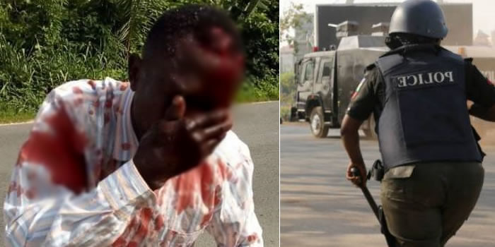 Police Officer Batters Okada Rider Who Refused To Offer