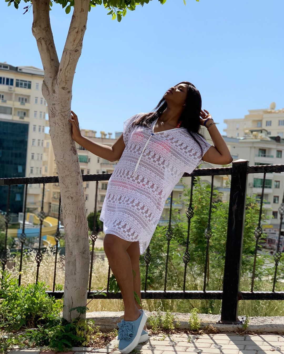 Controversial Actress, Etinosa Flaunts Bikini Clad Body On