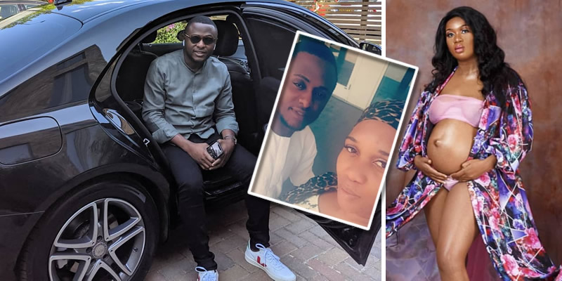 Ubi Franklin and alleged 4th Babymama, Sandra Iheuwa
