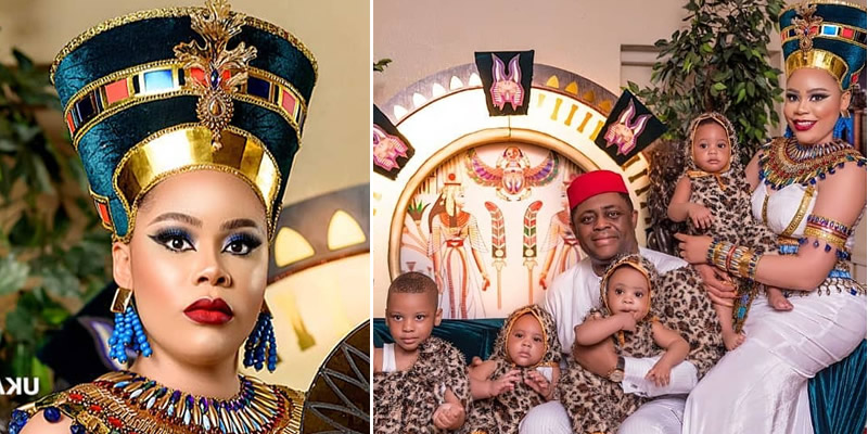 FFK, wife, Precious Chikwendu and children