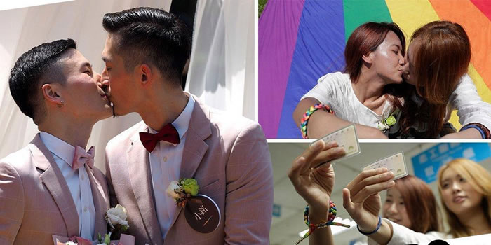 Over 300 Same-Sex Couples Tie The Knot As Taiwan Legalizes Same-Sex Weddings
