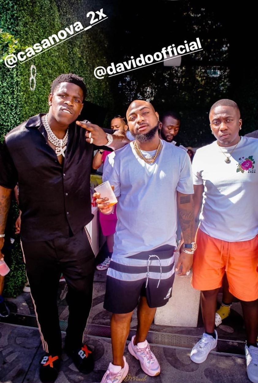 Video Shoot Or Just Flexing? Davido Chills With Meek Mill, Casanova In The US (Video)