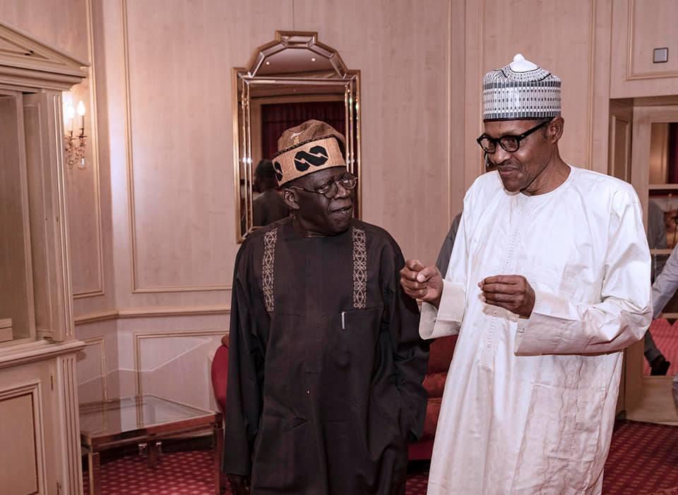 President?Buhari breaks Ramadan fast with the APC National Leader, Asiwaju Bola Tinubu (Photos)