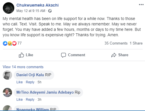 Young NIgerian poet kills himself after leaving suicide note on Facebook