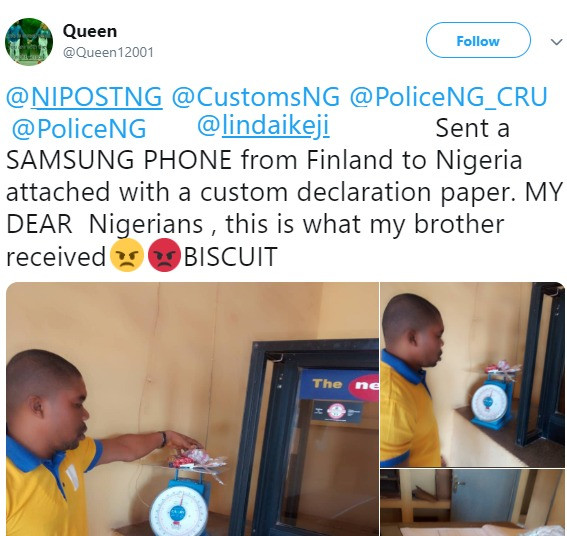 Woman sends phone to Nigeria but what her brother received will shock you (hilarious)