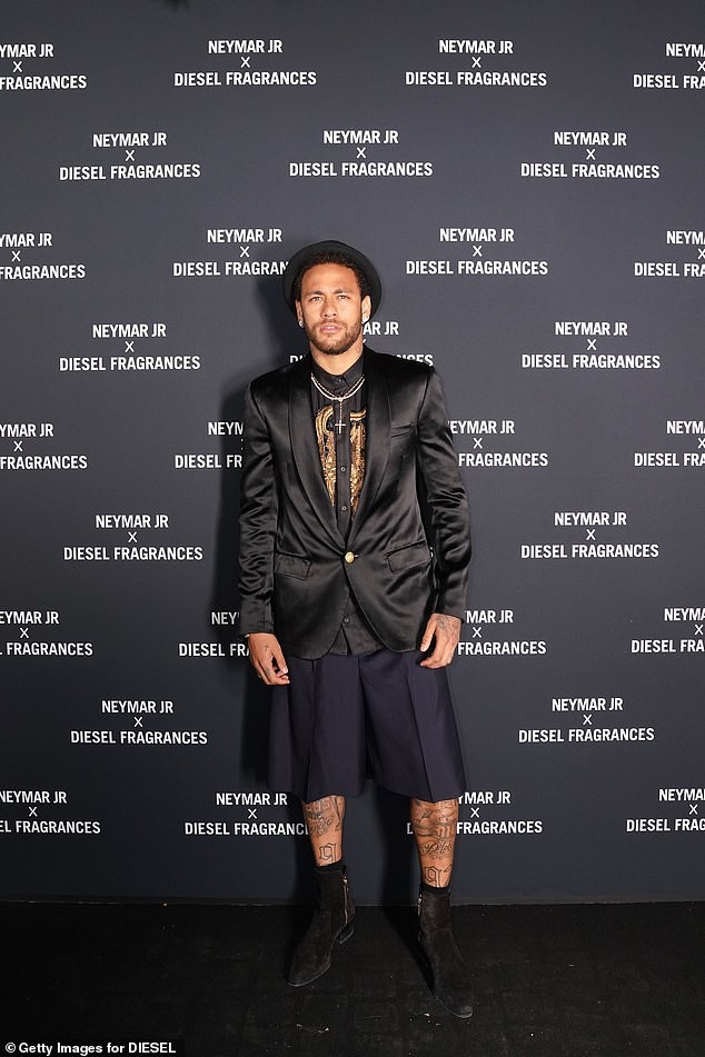 Football star, Neymar steps out in stylish outfit for the launch of his new fragrance in Paris?(Photos)