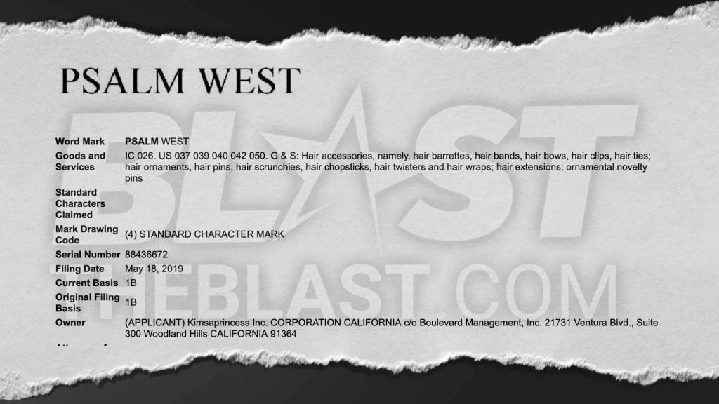 Kim Kardashian Trademarks Psalm West S Name For Future