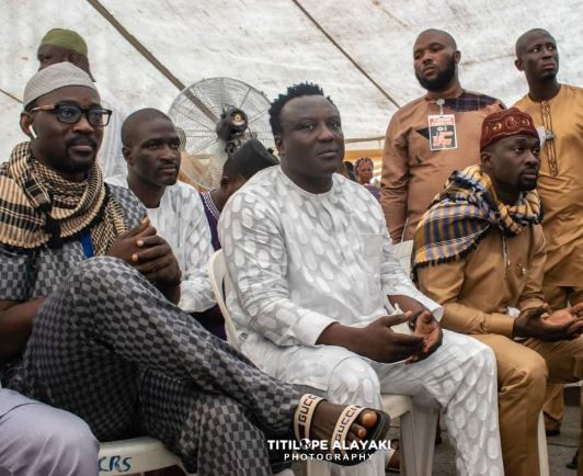 Photo: Fuji stars Pasuma and Saheed Osupa resolve their 5-year beef at Alao Malaika