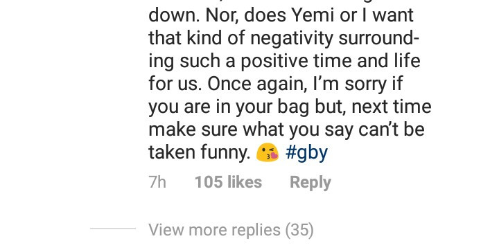 "Between Tamar Braxton and a follower who said ""hi"" to her Nigerian boyfriend"