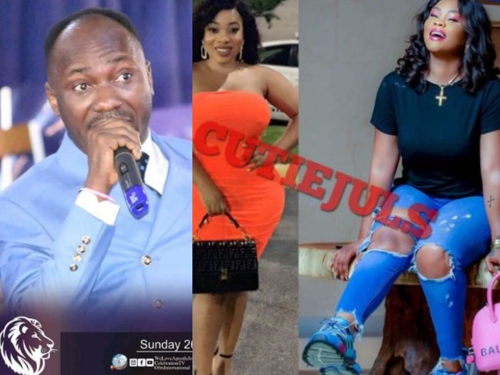 Blogger claims Apostle Suleman is having sex with Moesha Boduong and Daniella Okeke