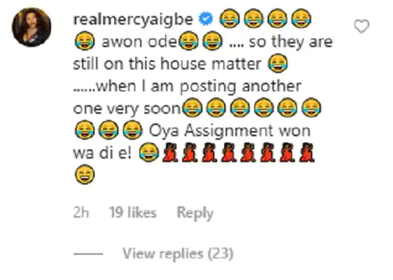 mercy aigbe magodo mansion response