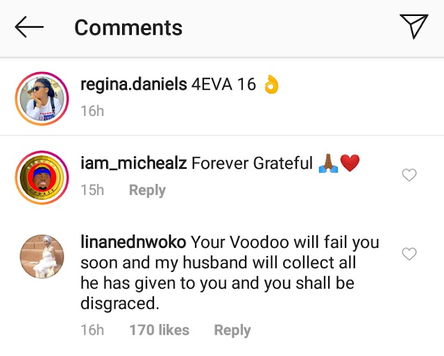 Ned Nwoko's Moroccan wife allegedly trolls Regina Daniels on IG.