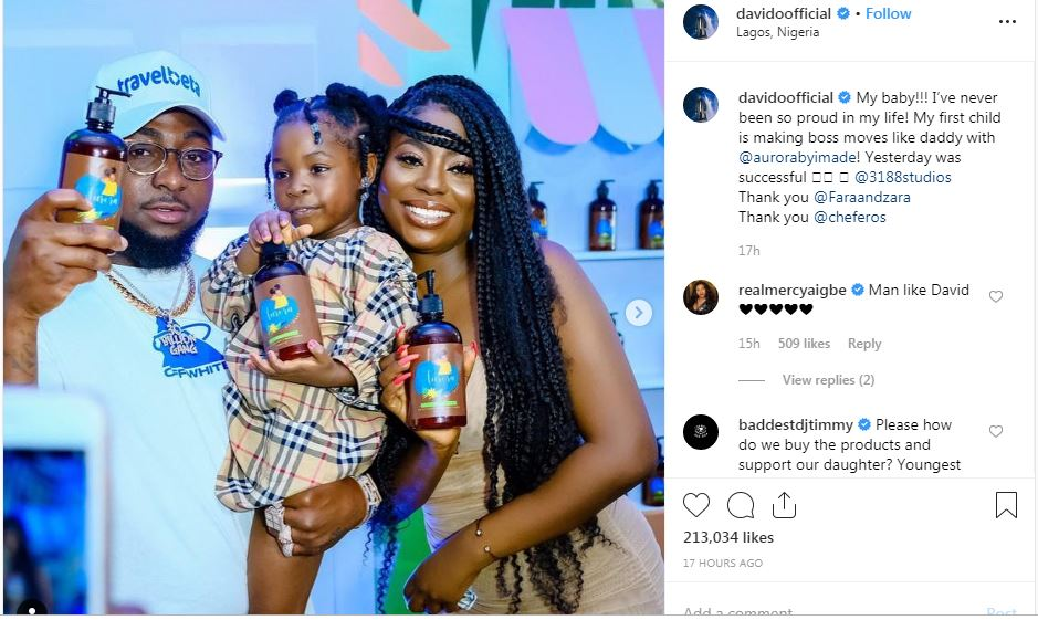 I've never been so proud in my life – Davido says as Imade