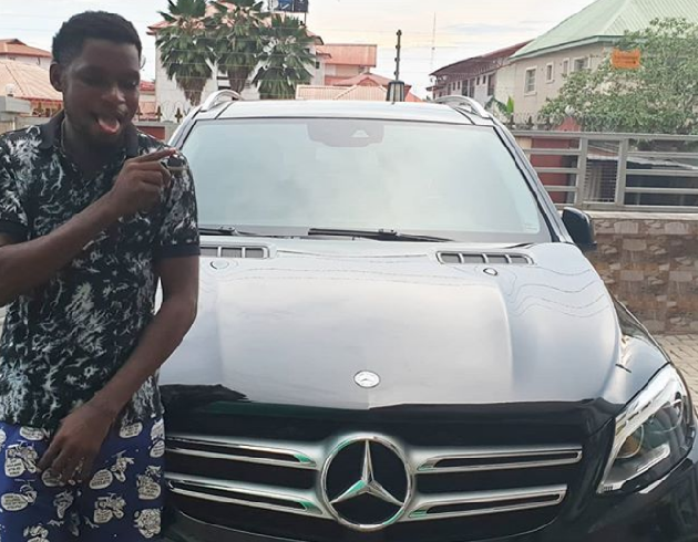 Mark Angel drops a funny note as he Acquires New Benz