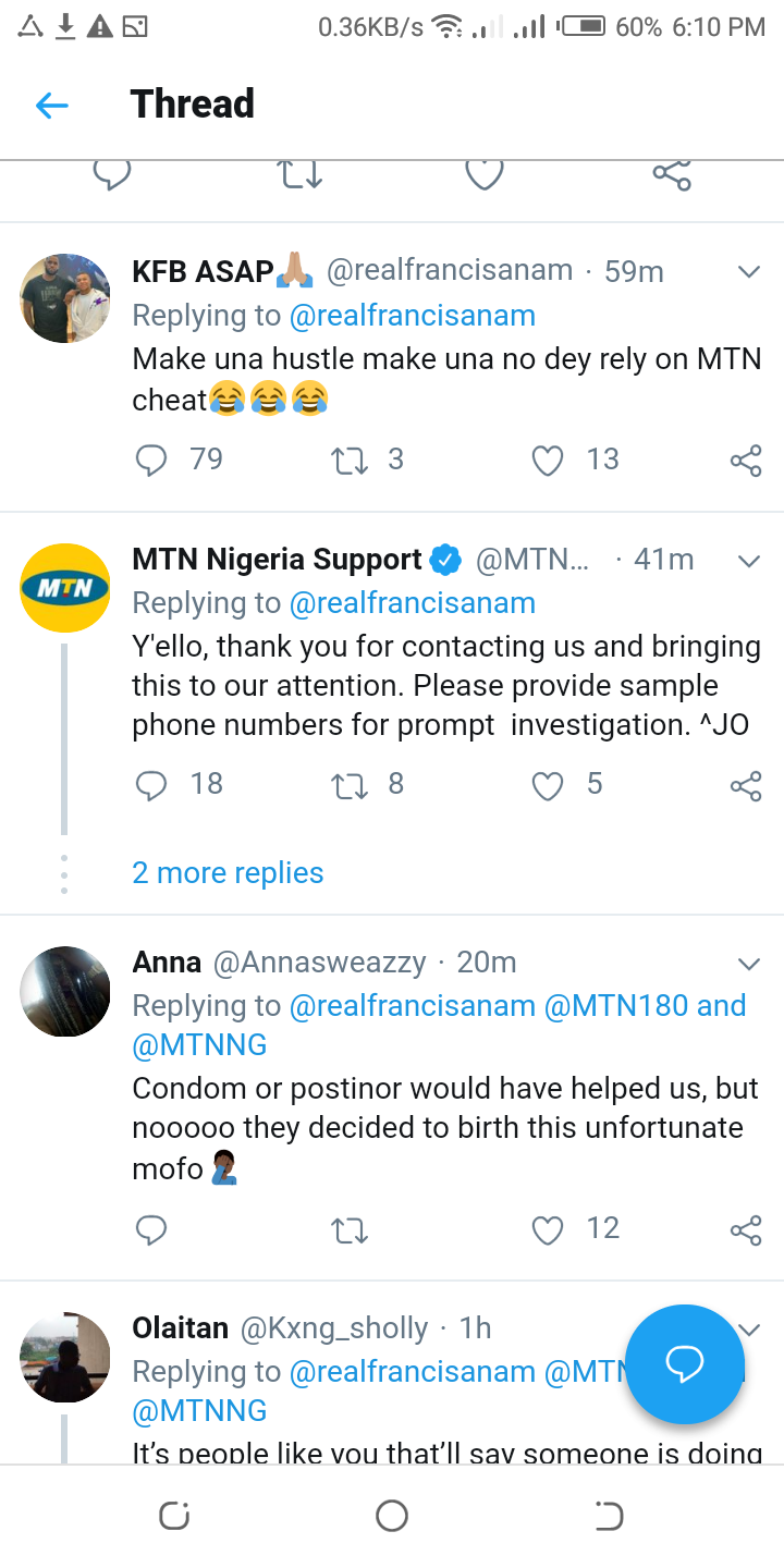 MTN on Fire as reaction trails MTN twitter handle over Free