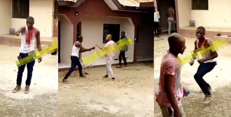 Two Men Fight Dirty Over A Girl At Nasarawa State University (Video)