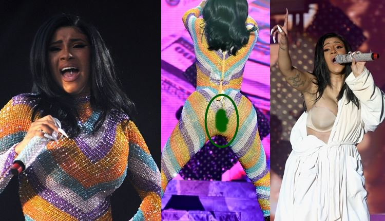 Cardi B Suffers Unfortunate Wardrobe Mishap, Performs In Bathrobe