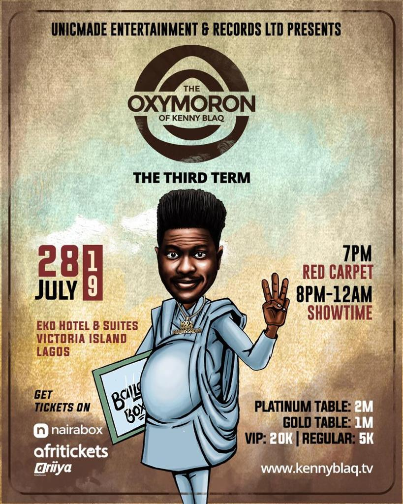 Kenny Blaq Announces Third Edition Of 'The Oxymoron of Kenny Blaq'