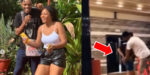 Mix reactions as Regina Daniels' brother spank their mother's bum in public (Video)