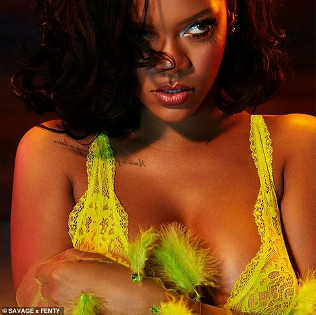 Rihanna puts her sexy body on display as she poses in skimpy lingerie and bodysuit (Photos)