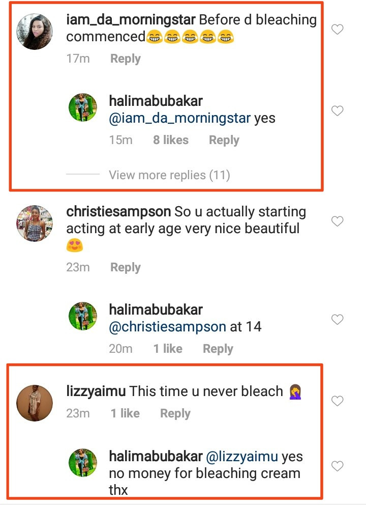 Halima Abubakar gives classy replies to followers who accused her of bleaching (video)