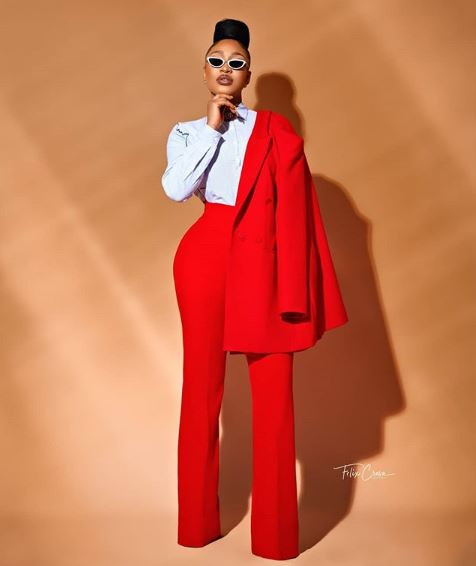 Lady In Red! Tonto Dikeh celebrates 34th birthday with new photos