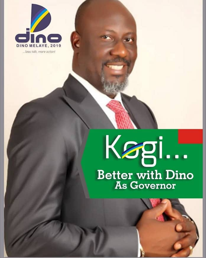 Dino Melaye's campaign poster for Kogi governorship election