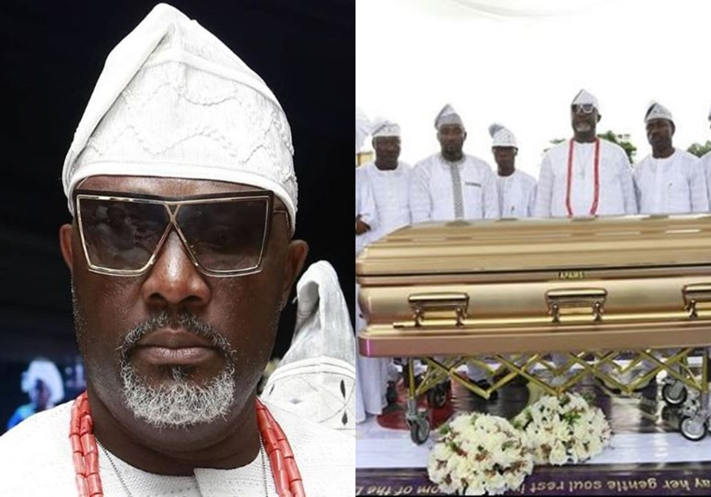 Image result for images of Dino melaye at his mum burial