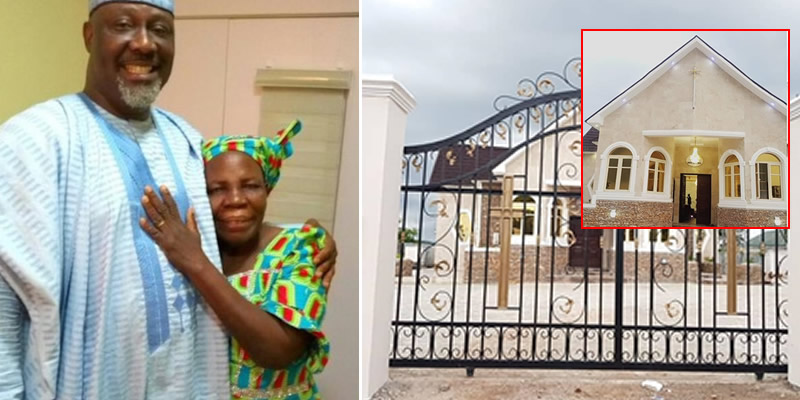 Image result for Dino Melaye Built A Chapel In Honour Of Late Mother (Photos)